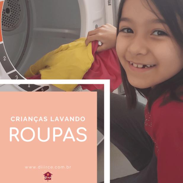Ensinar Crianças a lavar roupa