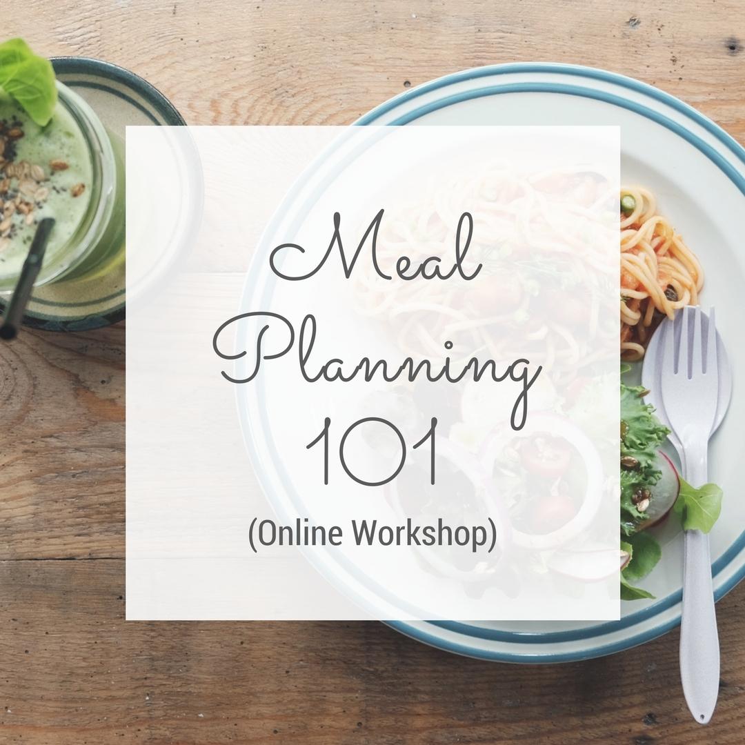 Meal Planning 101 Workshop