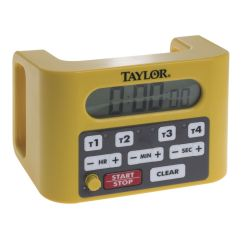 Taylor Kitchen Timer Cushions Yellow Plastic 4 Channel Digital 6 1 L X D H