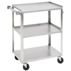 Stainless Kitchen Cart Cabinets Wholesale Hubert Steel 3 Shelf Medium Duty Utility 39 1 4l X S Med
