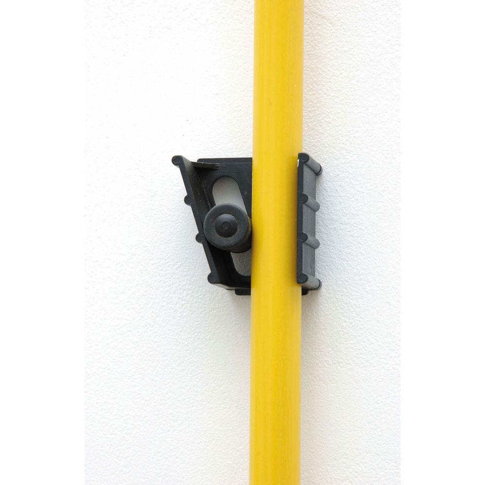 Black Plastic GateMate Plus Broom And Mop Holder