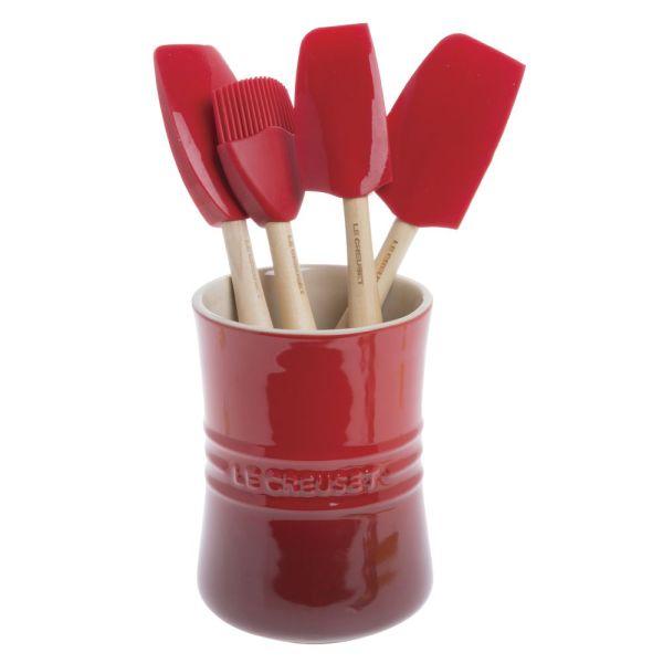 Le Creuset Craft Series Cerise Red Silicone Spatula Spoon