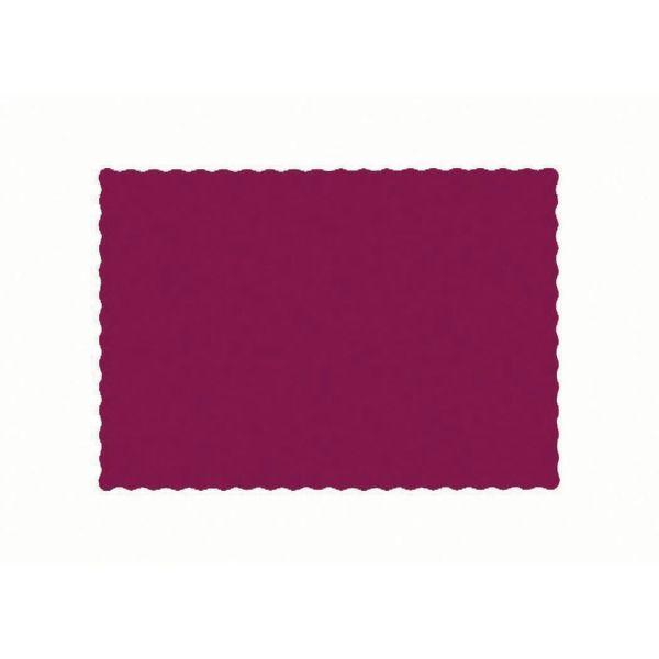 """Disposable Burgundy Paper Placemat - 13 1 2""""l X 9 2"""""""