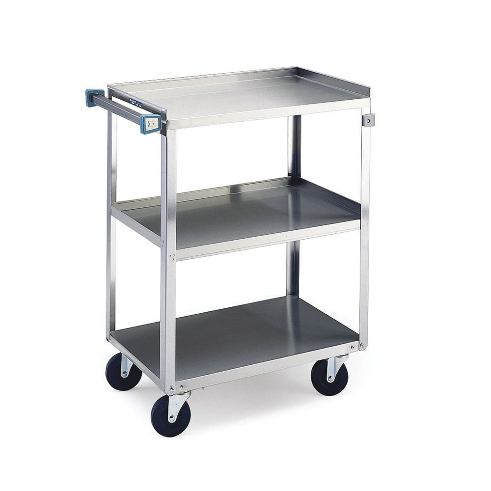 stainless steel kitchen cart rv faucets lakeside 3 shelf medium duty utility 39 1 4l x ss shf med 22x39x37