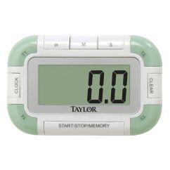 Kitchen Timer Home Depot Range Taylor White Plastic Four Event Digital 3 1 2 L X 16 4 Quad