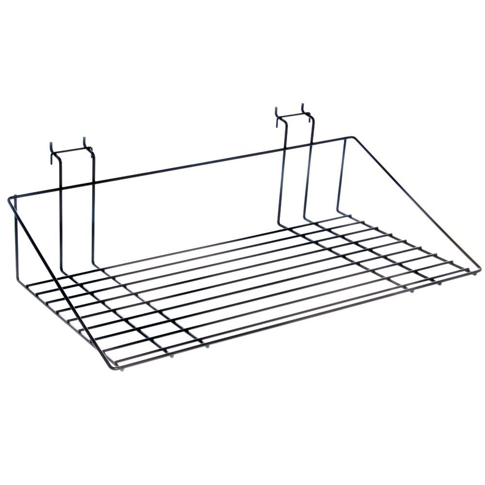 Black Wire Pegboard Shelves