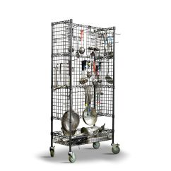 Kitchen Drying Rack Home Depot Outdoor Expressly Hubert Flint Steel Cart 36 L X 18 W Sanitation 72 Utensil