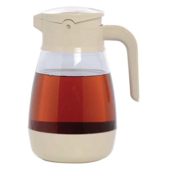 Service Ideas 16 Oz Almond Plastic Syrup Dispenser