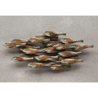 "Wooden School of Fish Wall Decor - 36""L"
