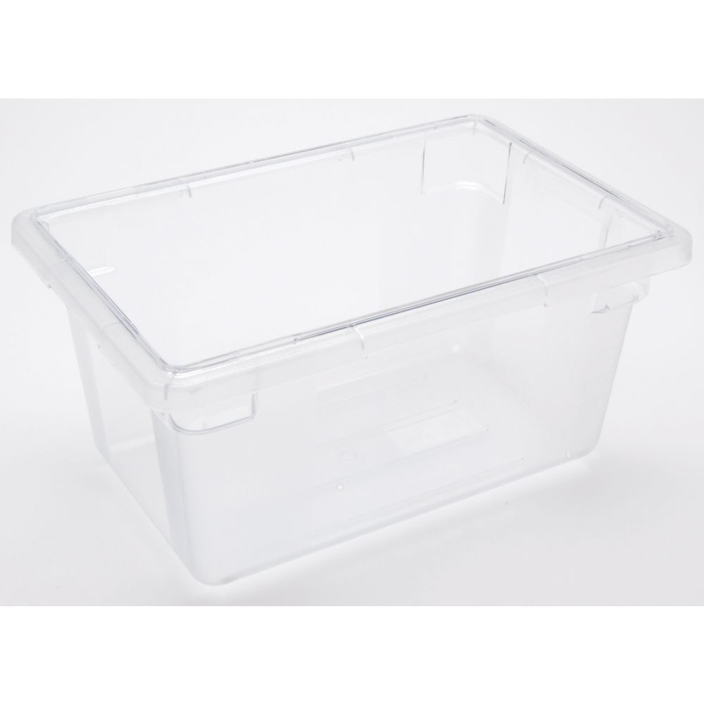 Best Kitchen Gallery: Hubert 5 Gal Clear Plastic Half Size Food Storage Box 18l X 12w X 9d of Plastic Storage Containers By Size on rachelxblog.com
