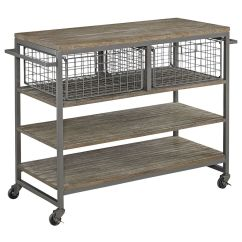 Rolling Cart For Kitchen Small Rustic Table Barnside Metro Grey Wire 20d X 46 3 4w 36h