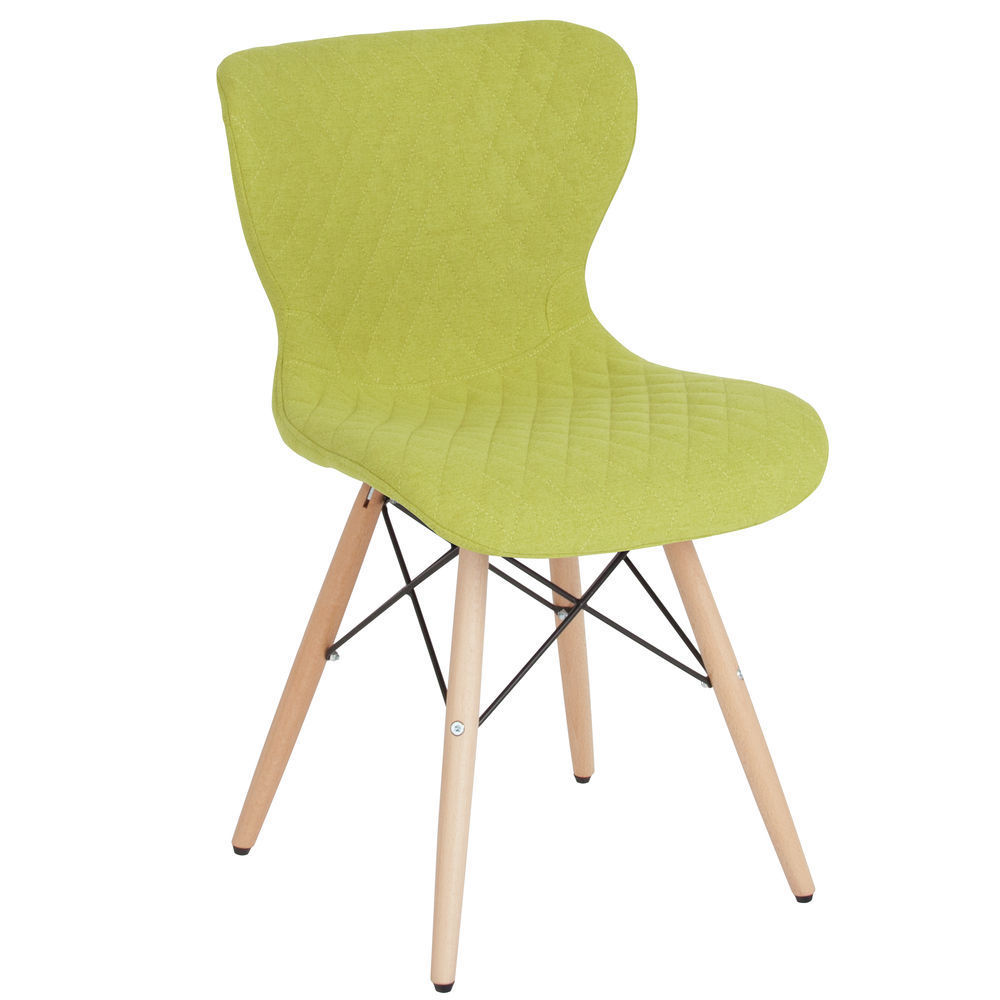Green Upholstered Chair Flash Furniture Riverside Contemporary Upholstered Chair With Wooden Legs In Citrus Green Fabric
