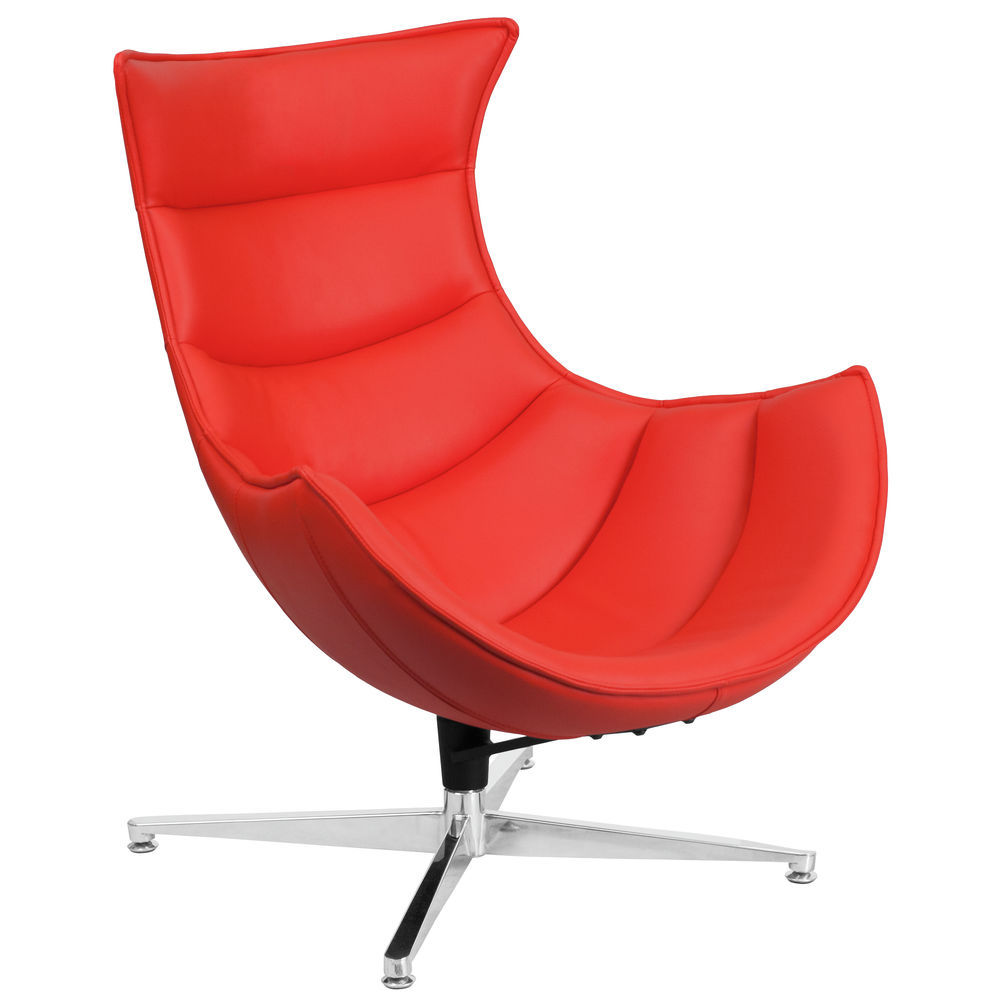 Red Leather Swivel Chair Flash Furniture Red Leather Swivel Cocoon Chair