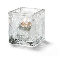 Clear, Glass Glacier Tealight lamp