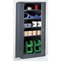 Edsal Industrial Grade Metal Storage Cabinet in Grey Baked ...