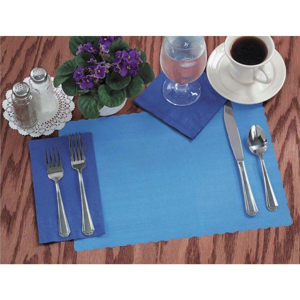 "Disposable Paper Placemats Marina Blue 13 1 2""l X 9 2"""