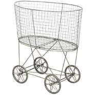 Wire Laundry Basket with Wheels