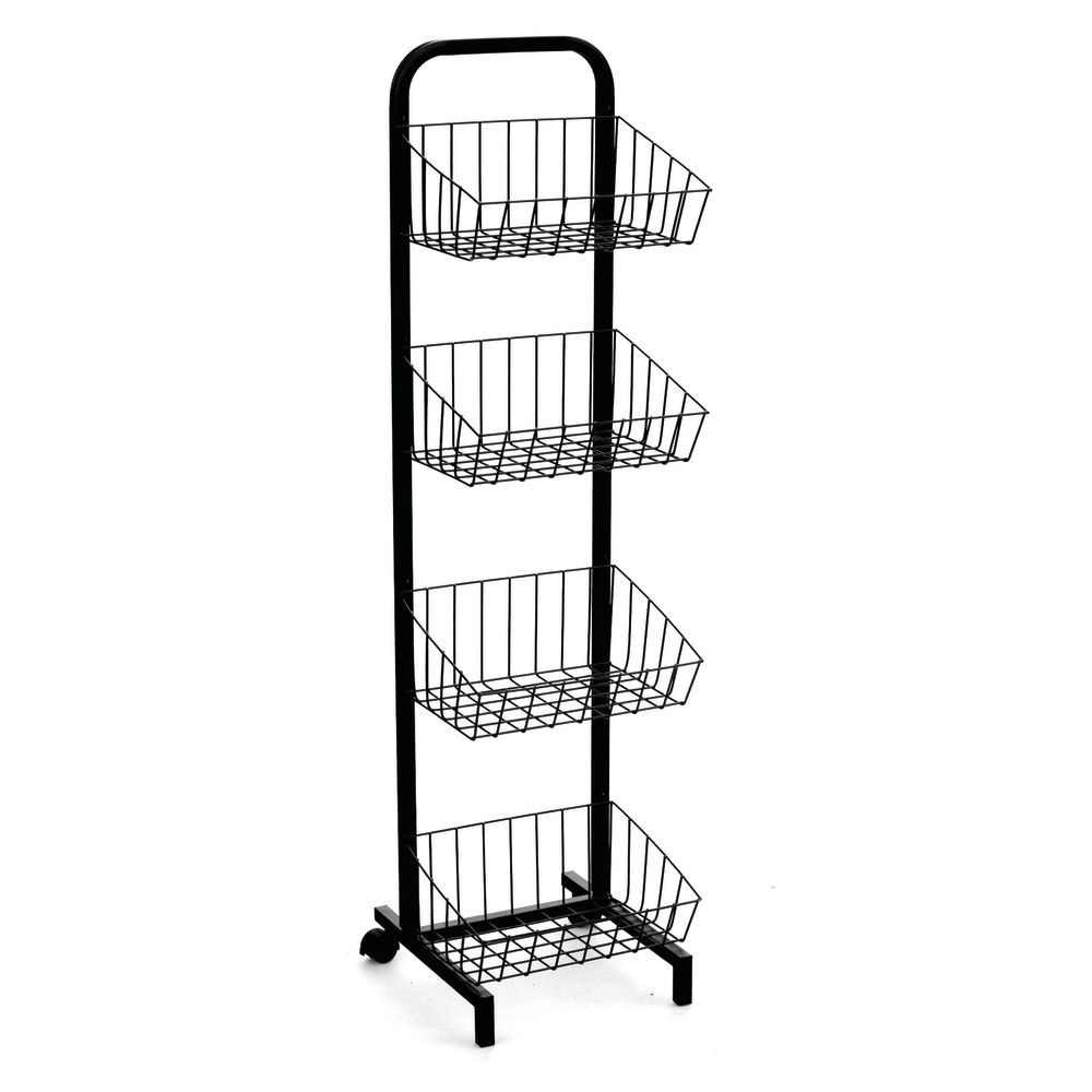 Wire Basket Stand with Small Footprint