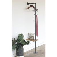 Industrial Wall Mount Pipe Rack with Shelf