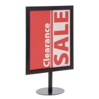 Black Pedestal Sign Holder, 11 x 14