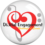 DiJital Engagement White Logo