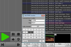 Playout can generate DTMF Cue tone on any selected audio channel. In same way it can detect DTMF cue tone on any audio channel and trig the playlist.
