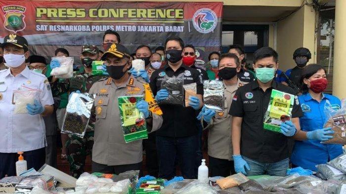 Narkoba Hasil Operasi Selama 3 Bulan Dimusnahakan Polres Jakbar