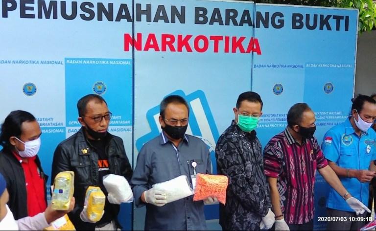 Barang Bukti Narkotika dariPengungkapan 8 Kasus Dimusnahkan BNN