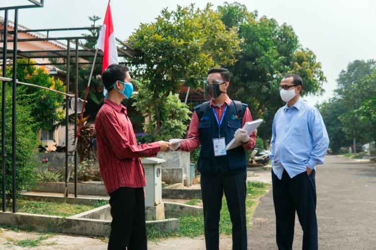 Petugas Sensus Dibekali Protokol Kesehatan Memverifikasi Rumah Penduduk