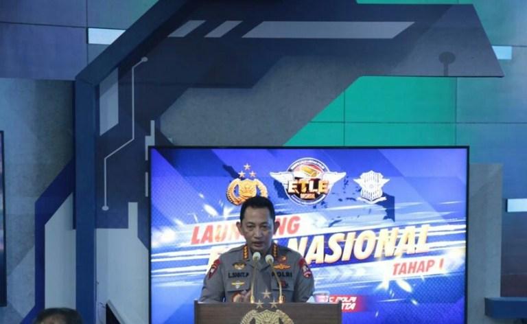 Kapolri Launching ETLE Nasional Tahap Satu Serentak di 12 Polda