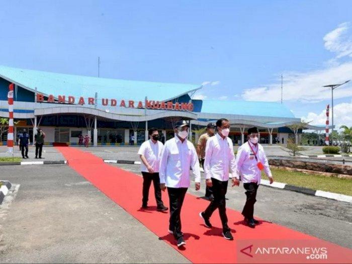 Resmikan Terminal Bandara Kuabang, Presiden Jokowi: Membangun Bandara Juga Membangun Peradaban
