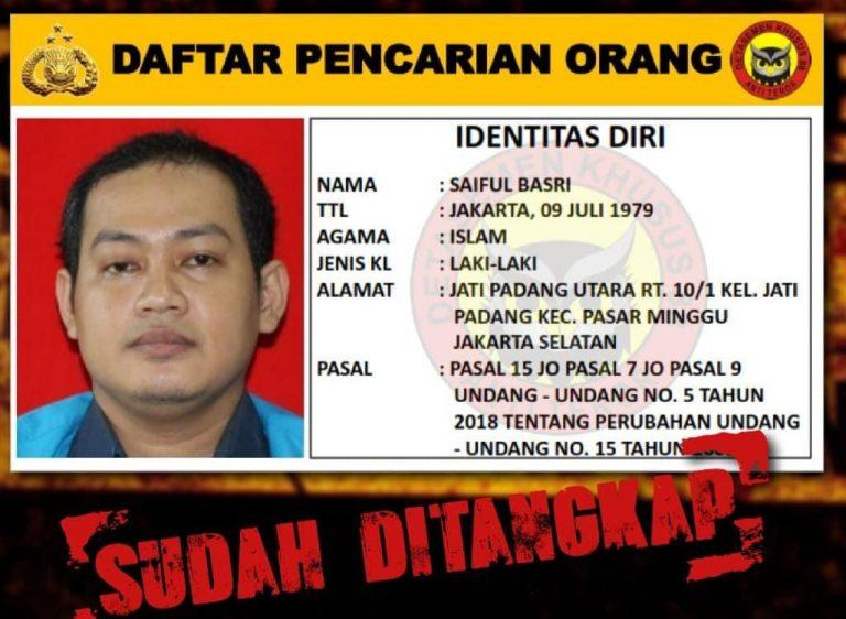 Jadi DPO Densus 88 Terduga Teroris Saiful Basri Serahkan Diri