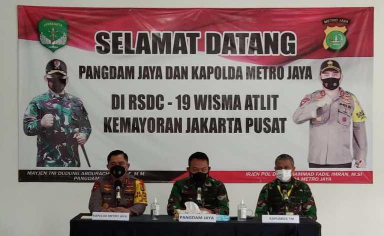 Antisipasi Lonjakan Covid, Pangdam Jaya dan Kapolda Siapkan RS Darurat Covid-19