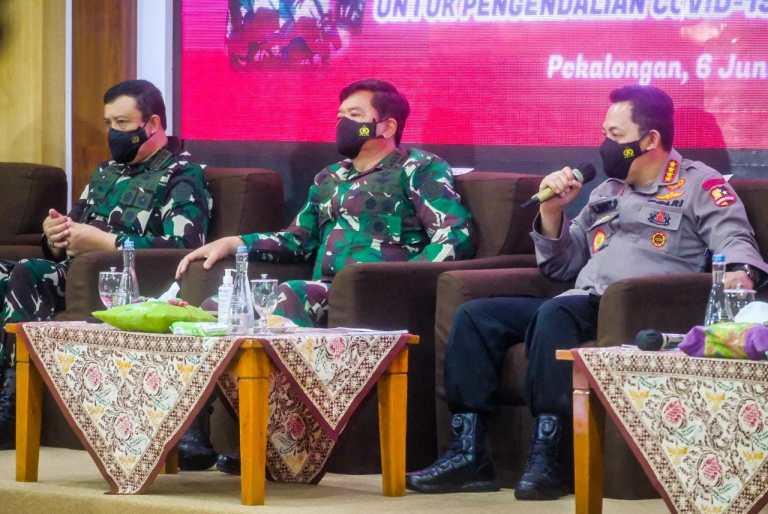 Kunker di Pekalongan, Panglima TNI-Kapolri: Perkuat PPKM Mikro dan Tingkatkan 5M juga 3T