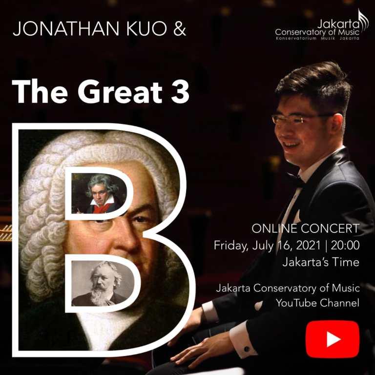 Pianis Jonathan Kuo Gelar Resital Piano The Great Three 'B' Mahakarya Keduanya