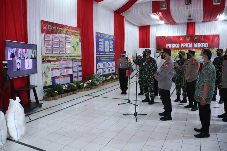 Kapolri dan Panglima TNI Semangati Warga Semarang Jalani Isolasi Mandiri