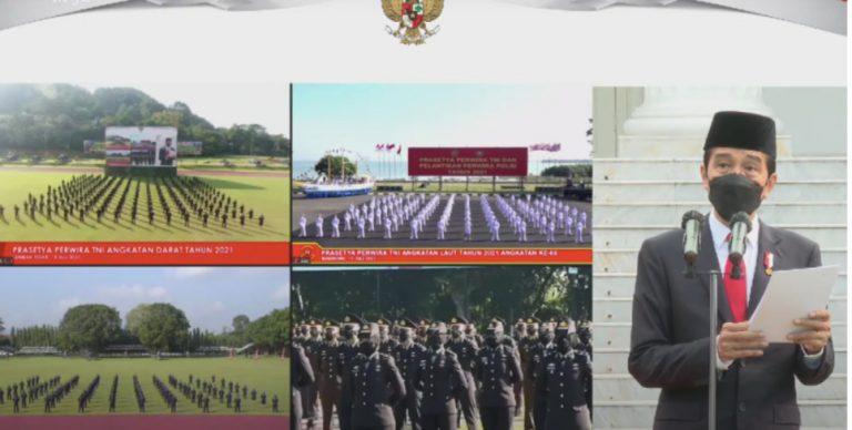 Presiden Jokowi Lantik 700 Perwira TNI dan Polri, Pesannya: TNI dan Polri Harus Bersinergi