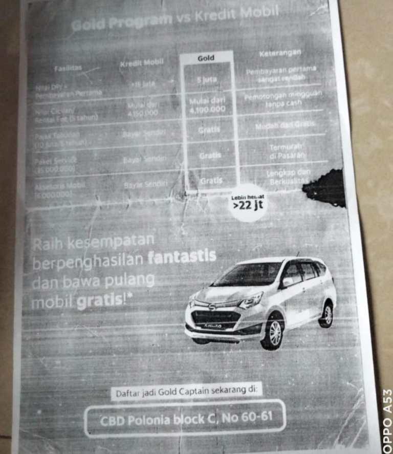 PT TPI Ingkar Janji, Pemilik Mobil Jadi Korban