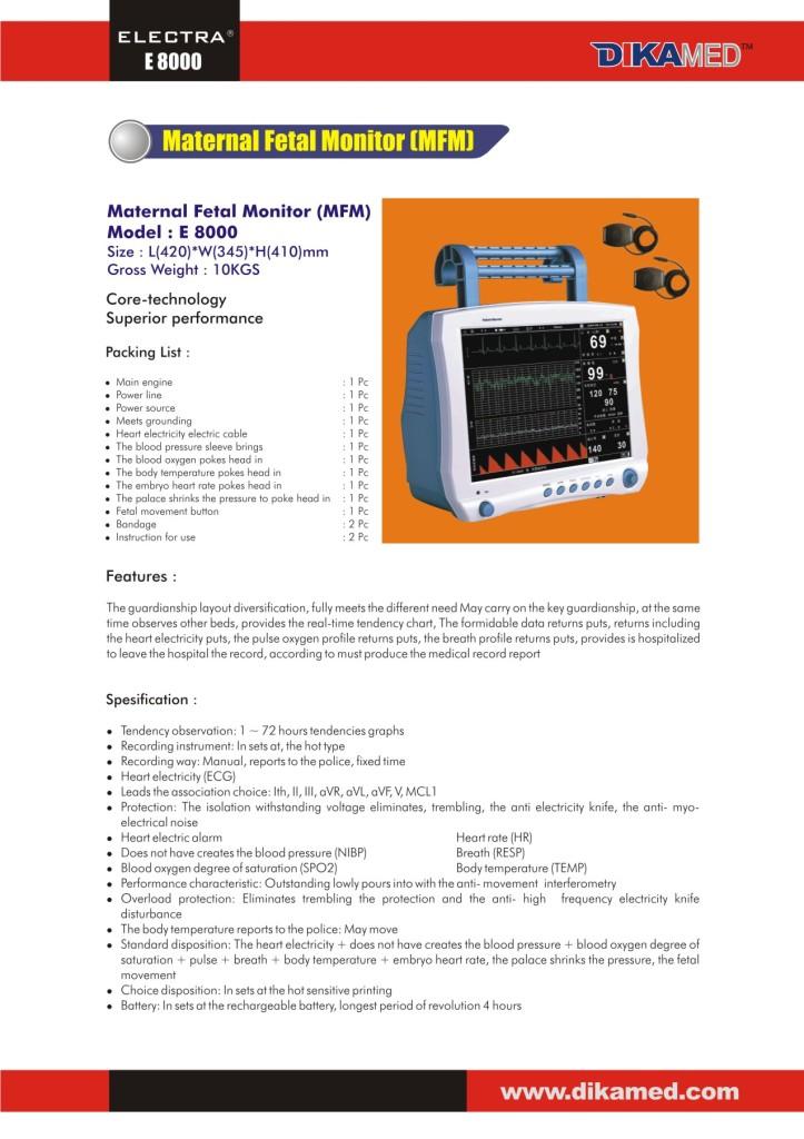 120. Maternal Fetal Monitor (MFM)