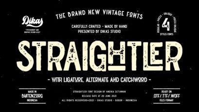 Straightler - Oldpress Font!