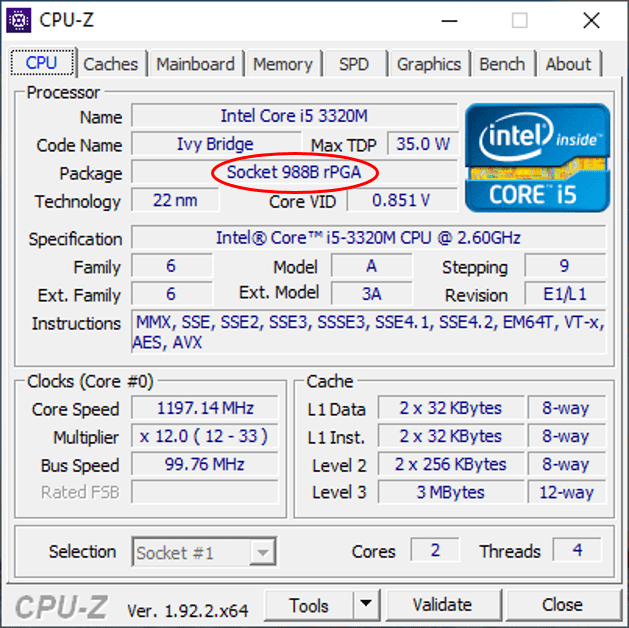 upgrade intel core i5 3320m