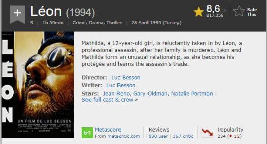 En İyi Aksiyon Filmleri Leon