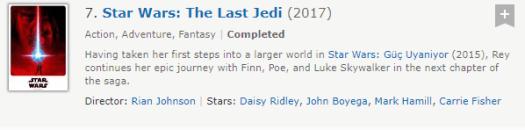 Aralıkta Çıkacak Star Wars Last Jedi filmi