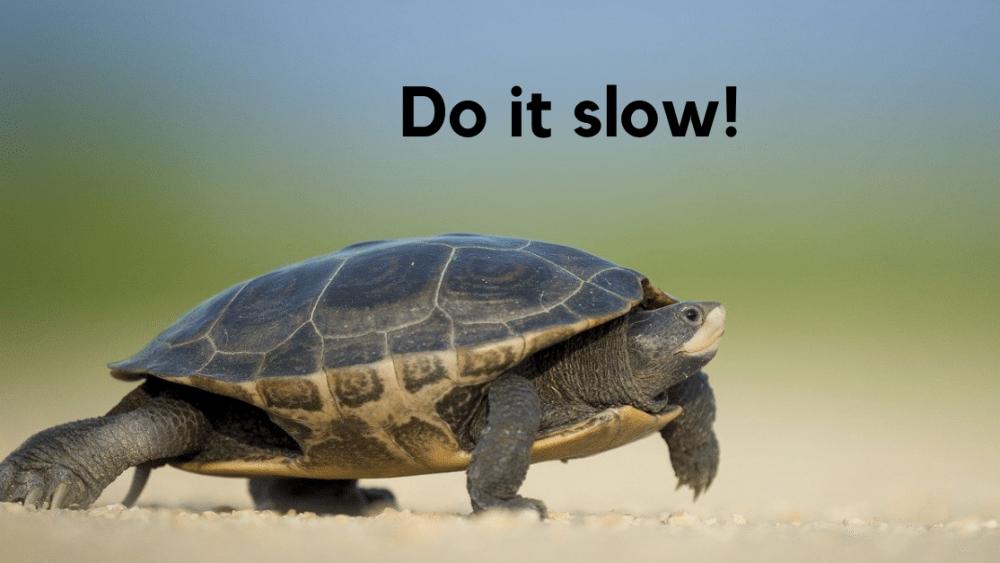 slow speaking