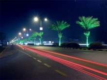 Main Boulevard Gulberg (Lahore) at night