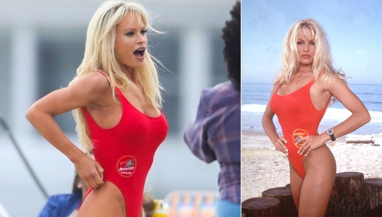 "Lily James è la scandalosa Pamela Anderson nella miniserie ""Pam &; Tommy"""