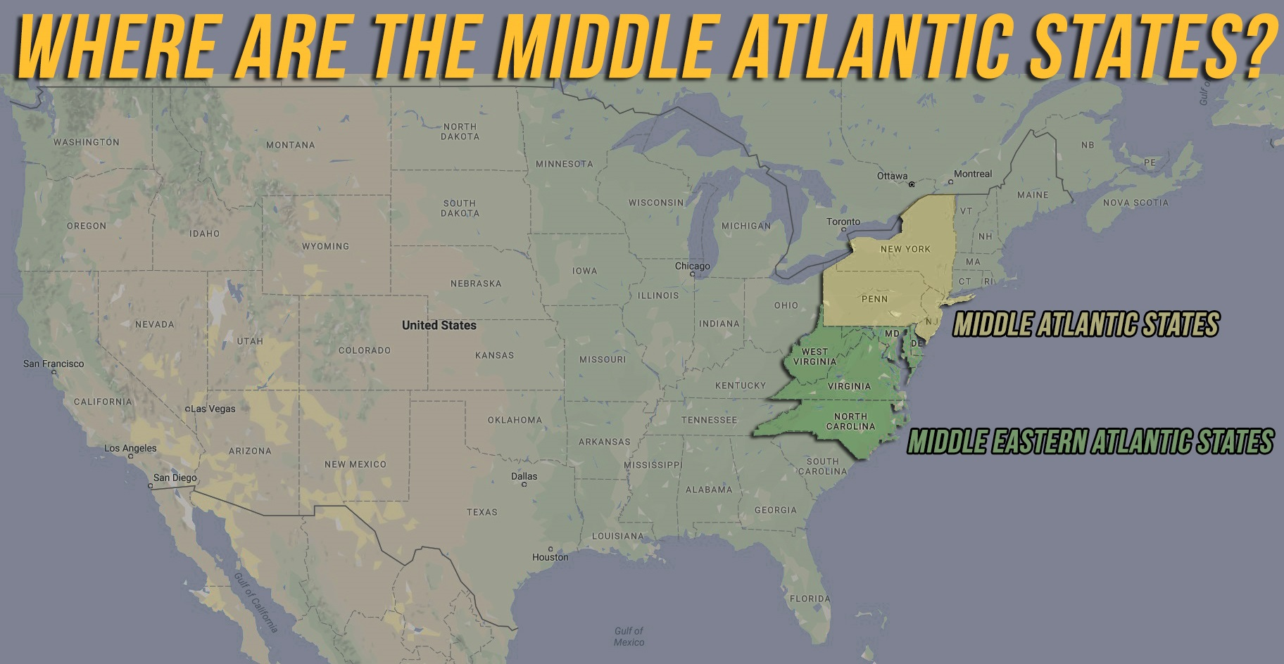 Ever Wonder Why The Middle Atlantic States Are Not In The