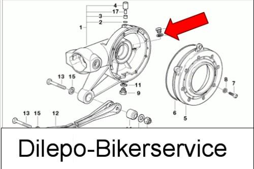 BMW R100 R1100 1150 GS V2A Schraube Getriebe Endantrieb