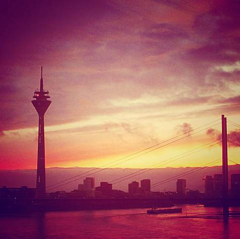 Grilled skies and cold weather in Dusseldorf.