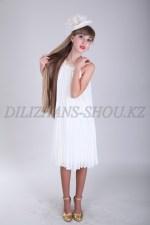 0363. Бальное платье гофре средней длины